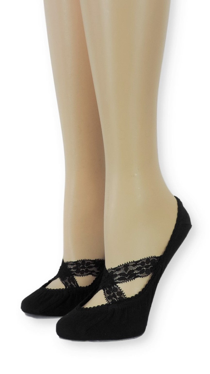Oxy Ankle Mesh Socks with Crossed Lace