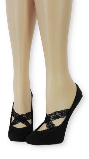 Oxy Ankle Mesh Socks with Crossed Lace - Global Trendz Fashion®