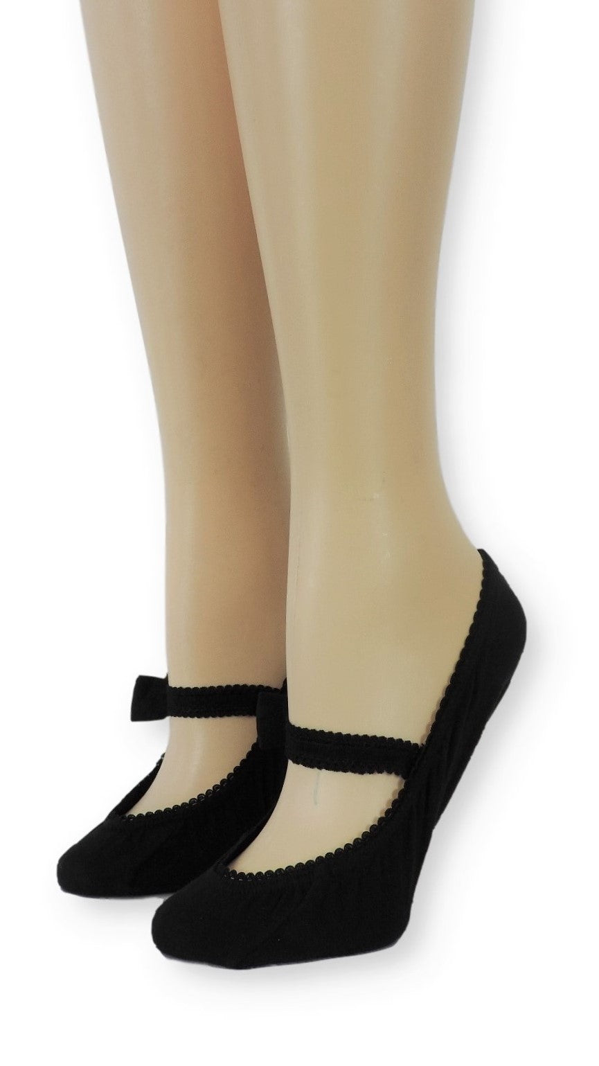 Darknight Ankle Socks with Bow Strap