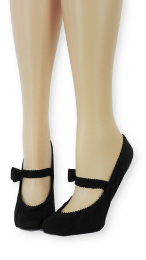 Darknight Ankle Socks with Bow Strap - Global Trendz Fashion®
