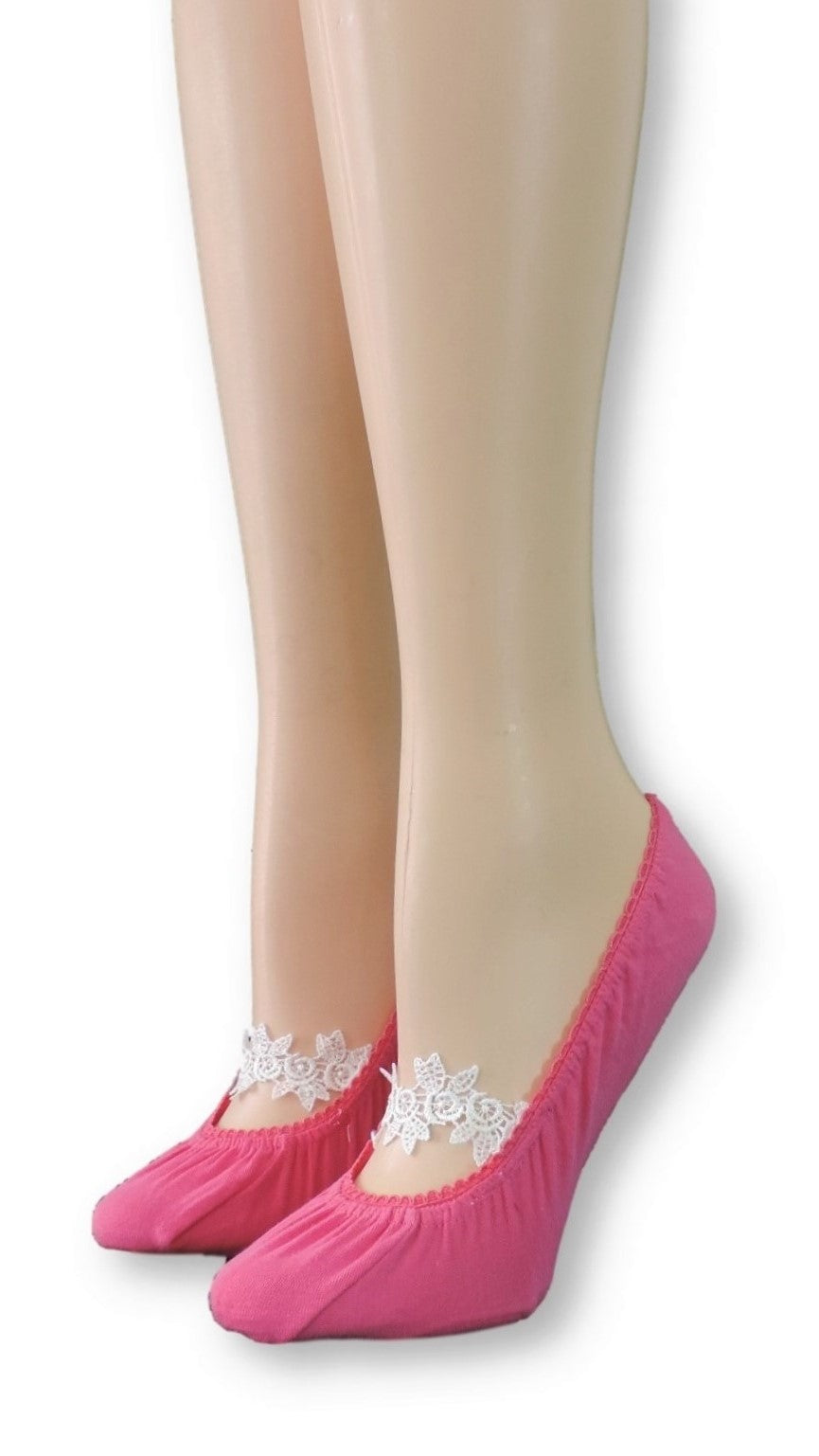 Gulabi Ankle Socks with Floral Lace