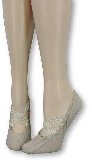 Ankle Socks with cream Crossed Lace - Global Trendz Fashion®
