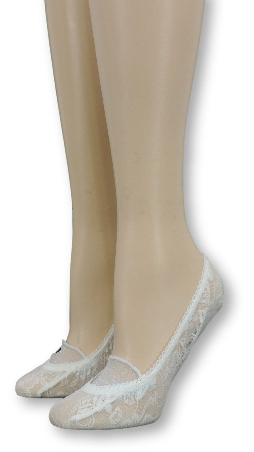 Chiffon Ankle Mesh Socks Closed Lace