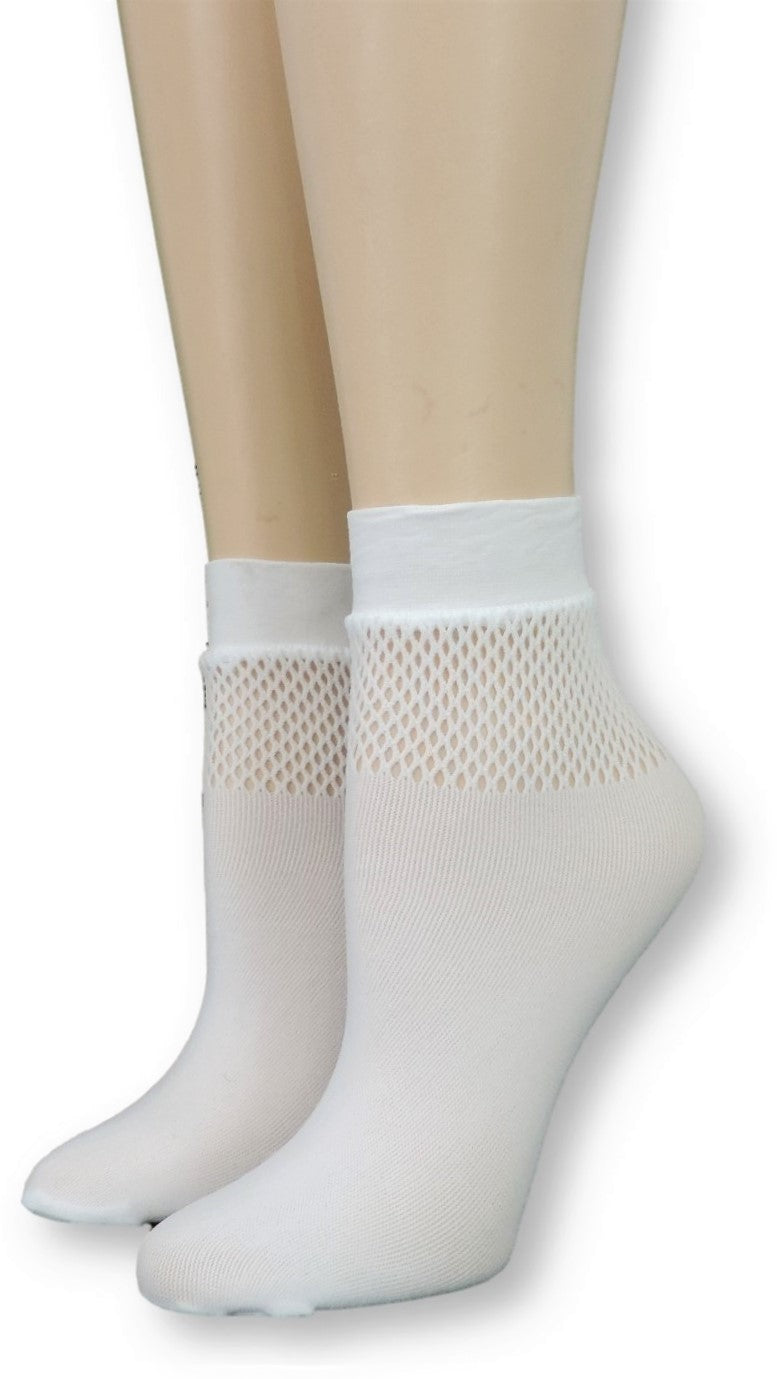 Snow White Mesh Socks