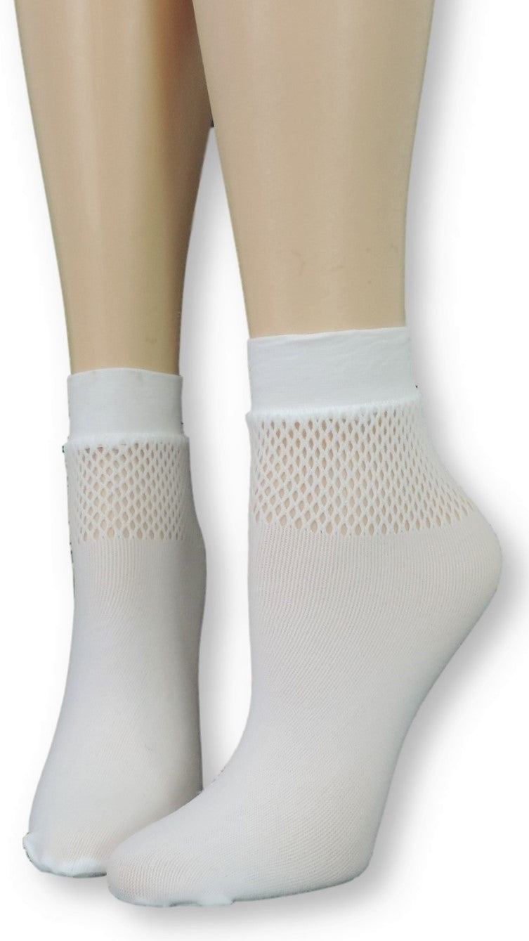 Snow White Mesh Socks - Global Trendz Fashion®