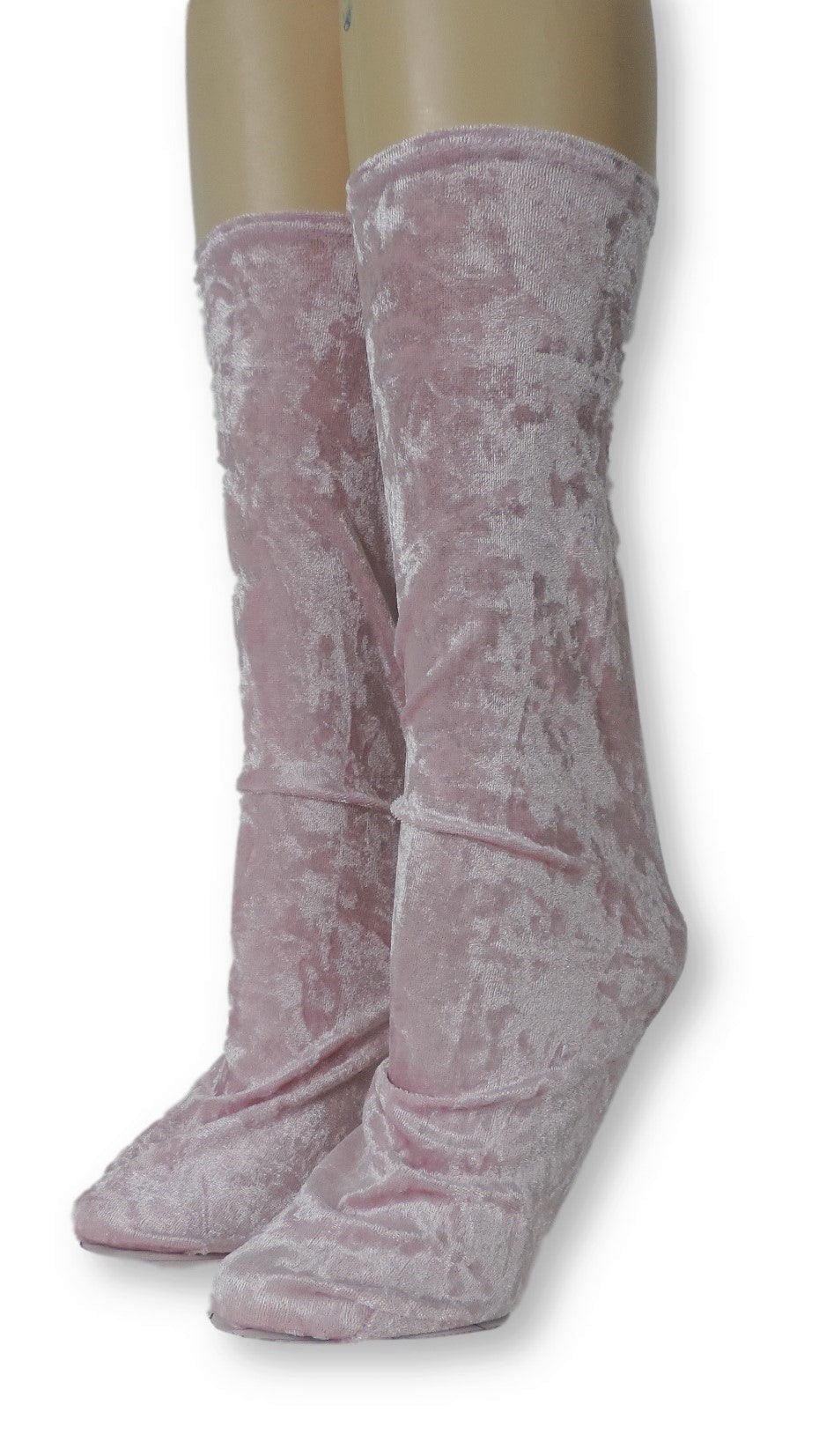 Mauve Crushed Velvet Socks - Global Trendz Fashion®