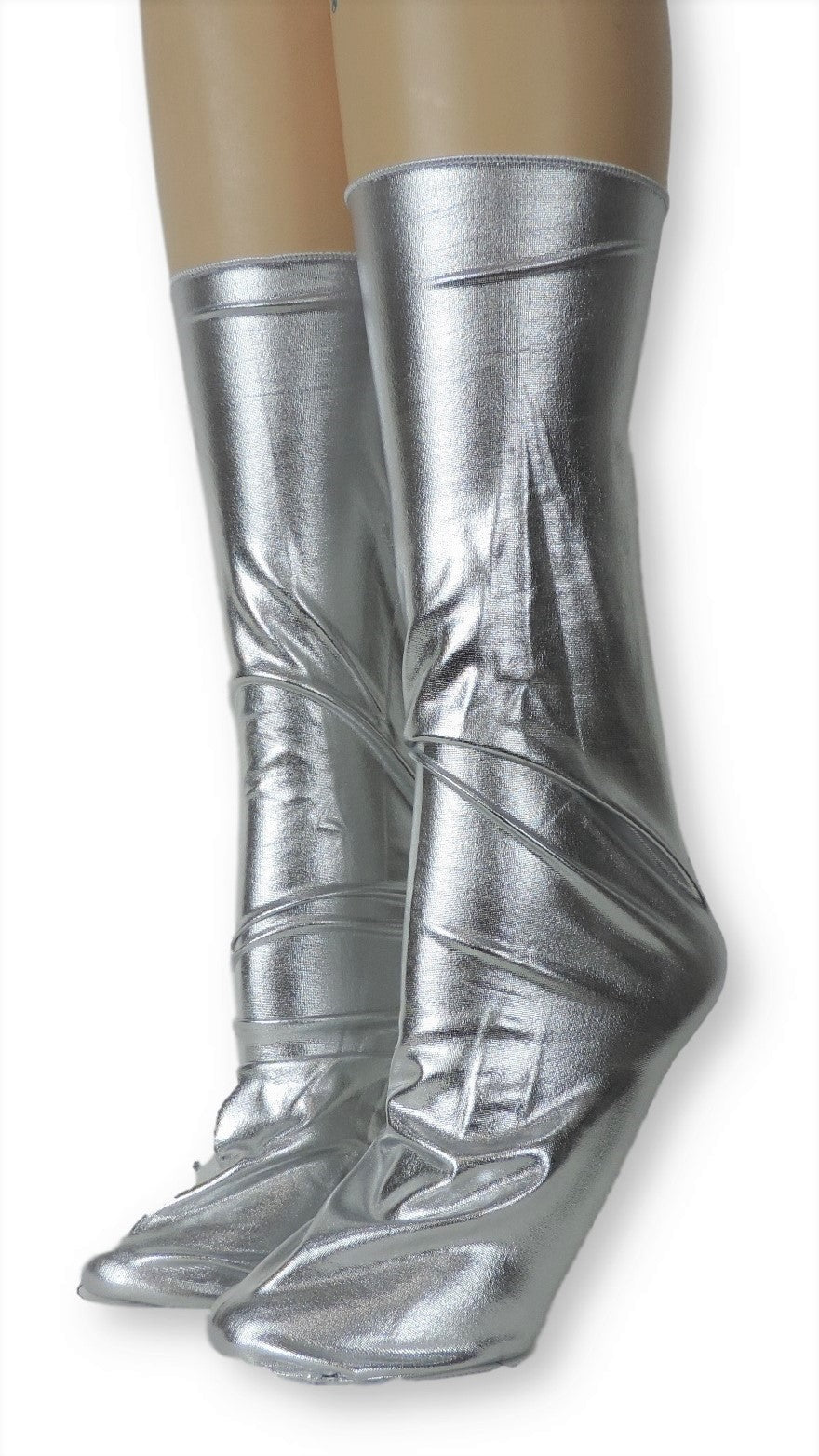 Metallic Silver Reflective Socks