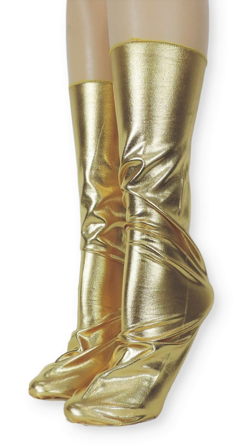Metallic Gold Reflective Socks