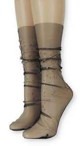 Dashing Tulle Socks with crystals - Global Trendz Fashion®