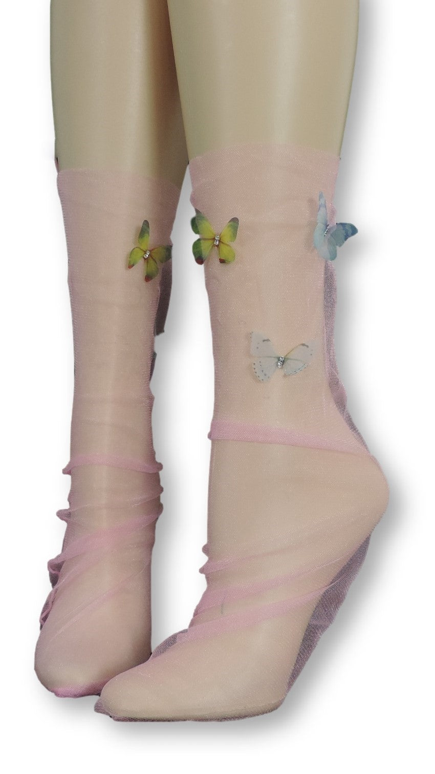Baby Pink Tulle Socks with butterflies - Global Trendz Fashion®