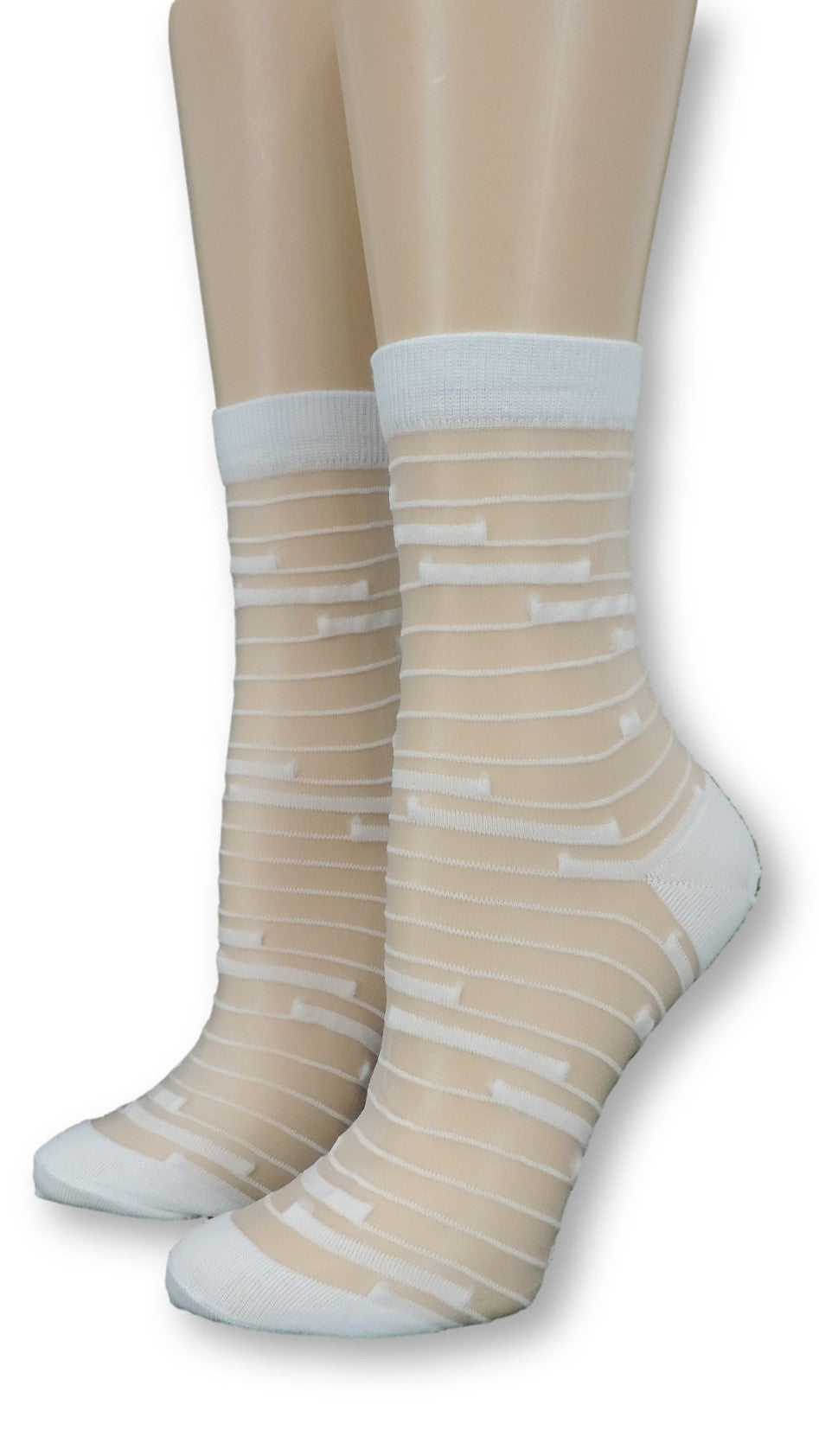 Vivid White Sheer Socks - Global Trendz Fashion®