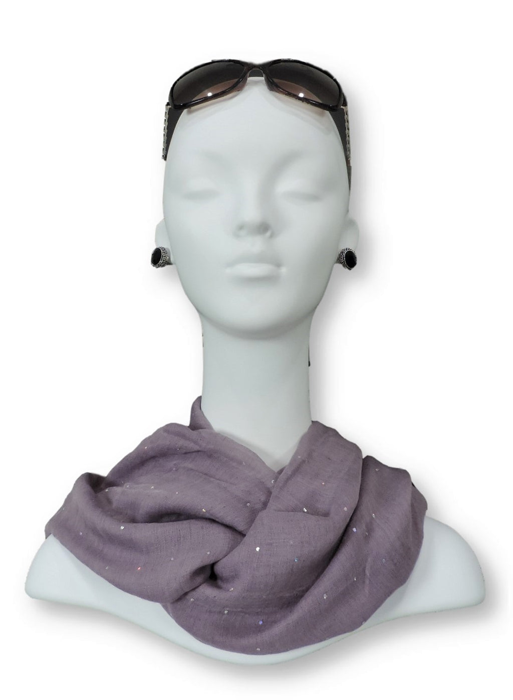 Lavender Embellished Viscose Scarf - Global Trendz Fashion®