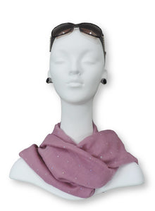 Tea Pink Embellished Viscose Scarf - Global Trendz Fashion®
