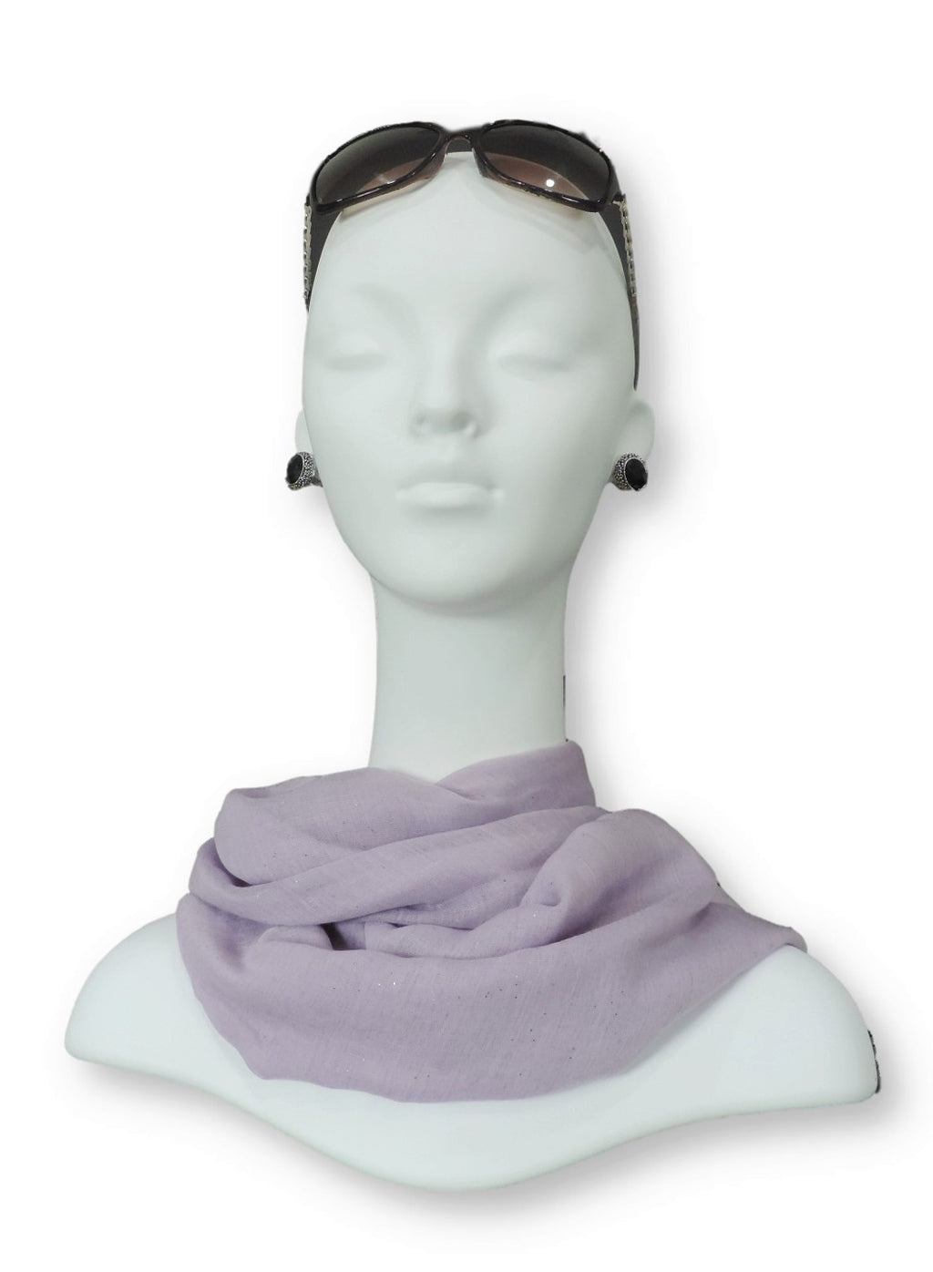Light Purple Glitter Viscose  Scarf - Global Trendz Fashion®