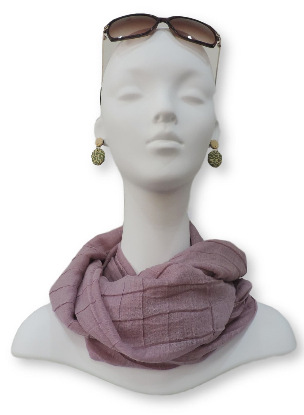 Lavender Cotton Pleated Scarf - Global Trendz Fashion®