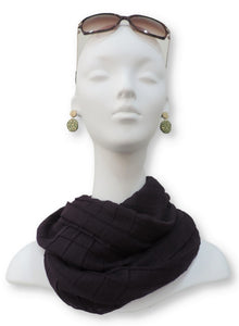 Blue Violet Cotton Pleated Scarf - Global Trendz Fashion®