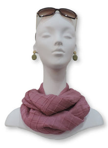 Sweet Pink Cotton Pleated Scarf - Global Trendz Fashion®