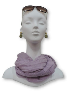 Rose De France Cotton Pleated Scarf - Global Trendz Fashion®