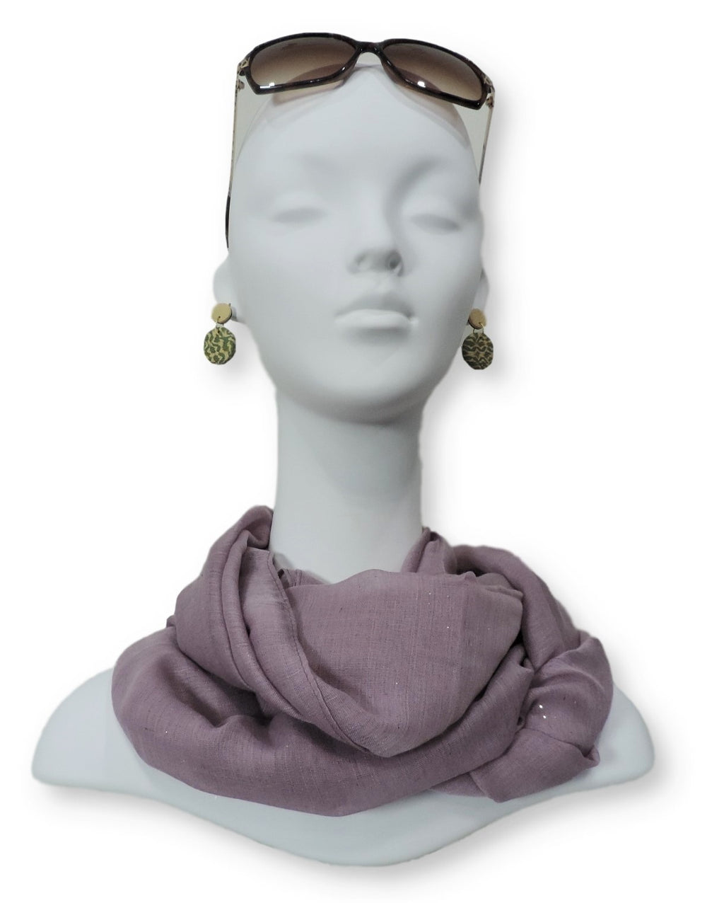 Imperial Violet Glitter Viscose Scarf - Global Trendz Fashion®