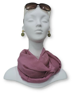 Lavender Glitter Viscose Scarf - Global Trendz Fashion®