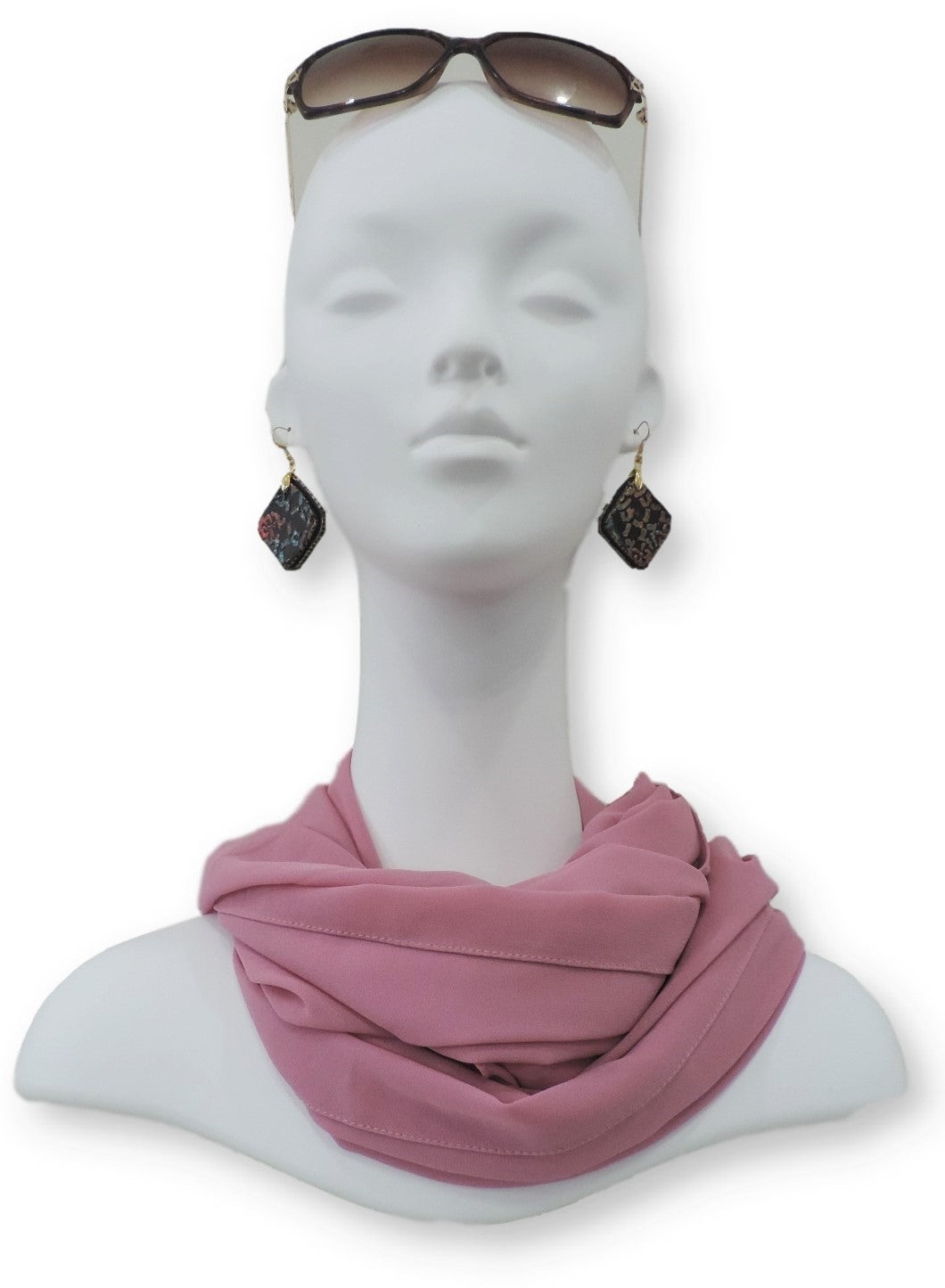 Dusty Rose Chiffon Scarf - Global Trendz Fashion®