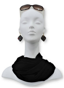 Black Chiffon Scarf - Global Trendz Fashion®
