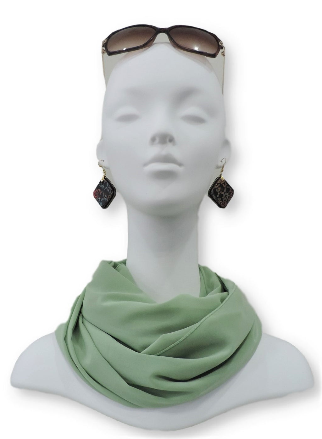 Celery Green Chiffon Scarf - Global Trendz Fashion®