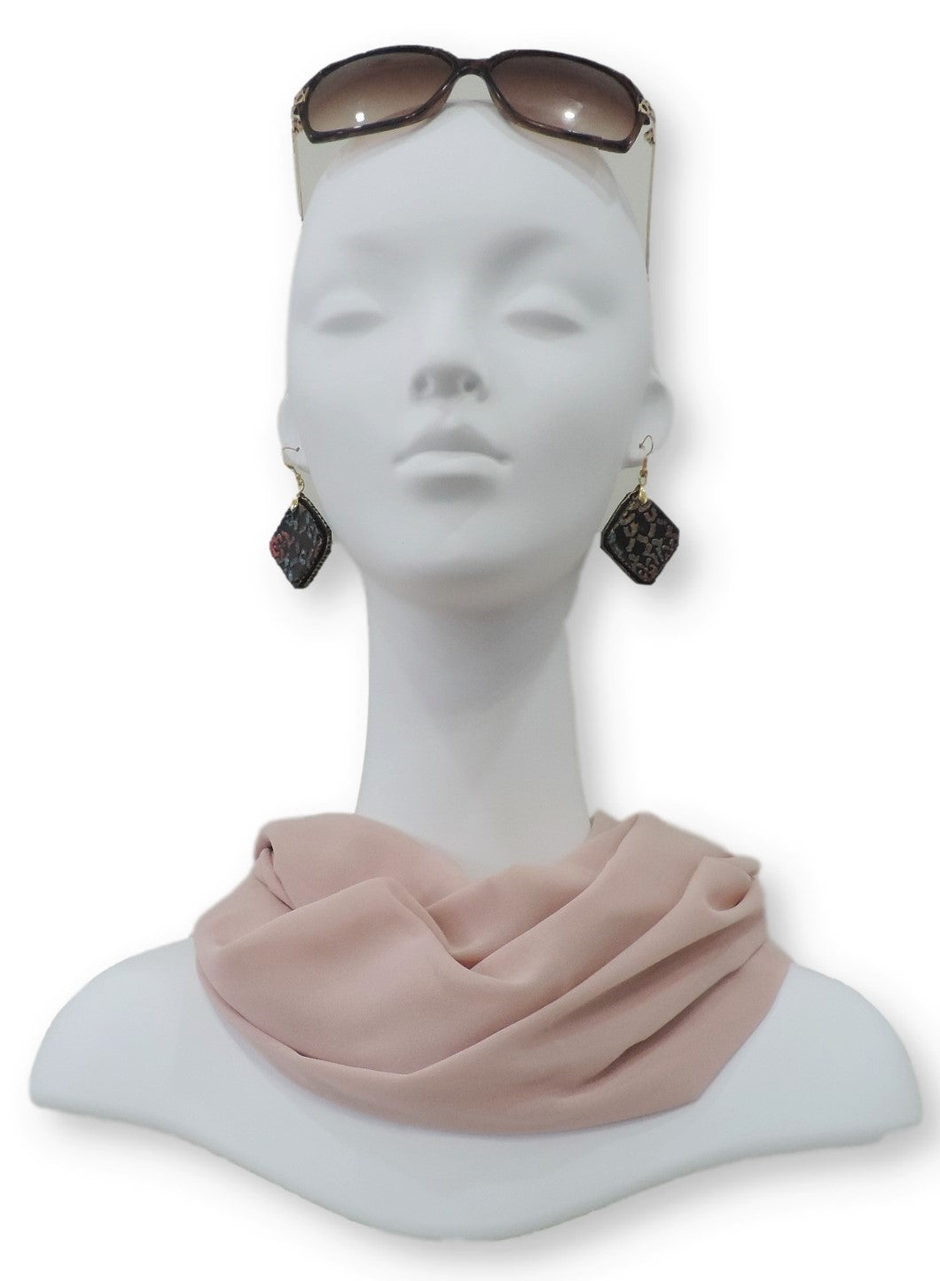 Light Peach Chiffon Scarf - Global Trendz Fashion®