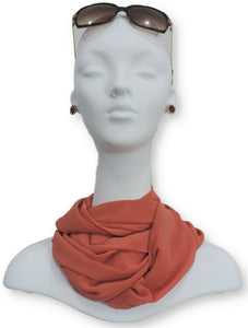 Pumpkin Orange Chiffon Scarf - Global Trendz Fashion®