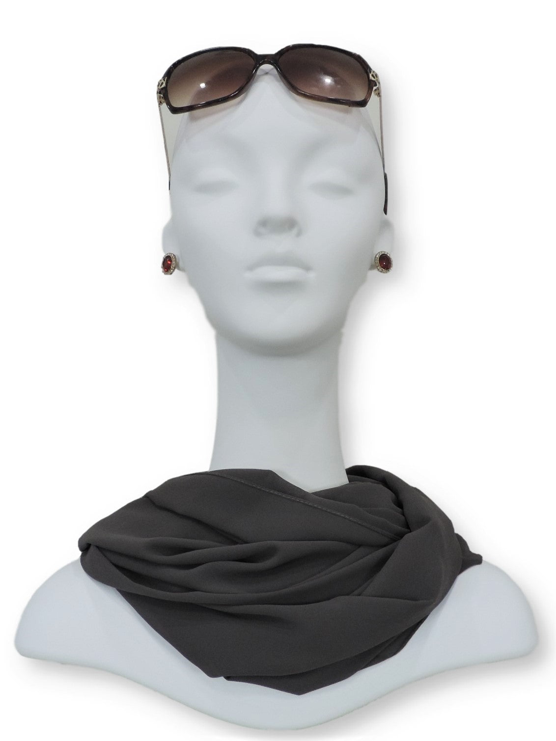 Charcoal Grey Chiffon Scarf - Global Trendz Fashion®