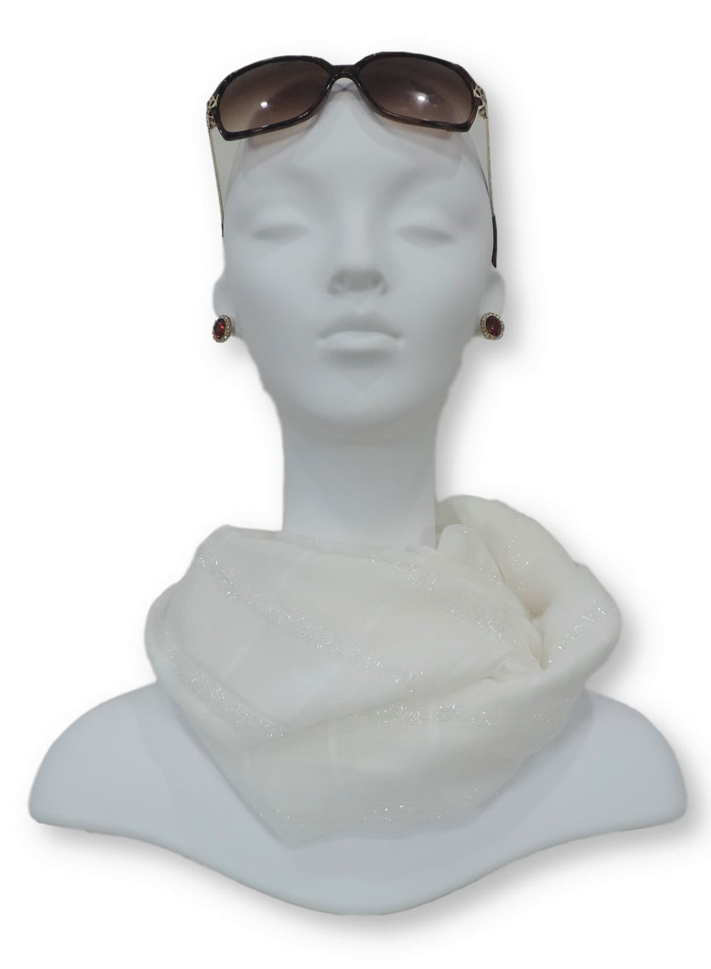White Sparkle Cotton Scarf - Global Trendz Fashion®