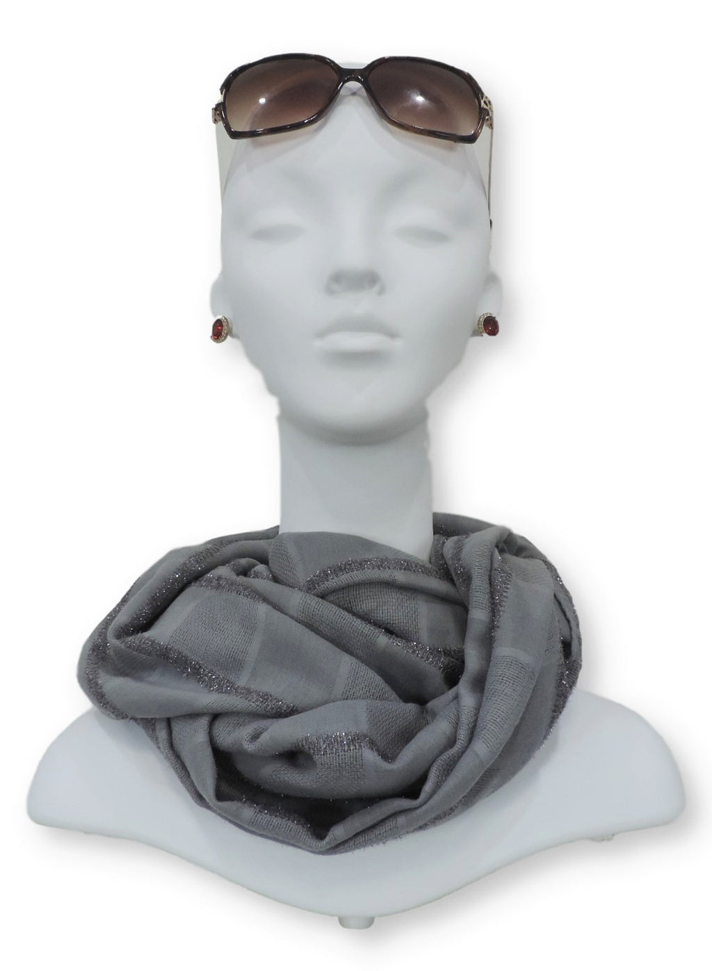 Grey Sparkle Cotton Scarf - Global Trendz Fashion®