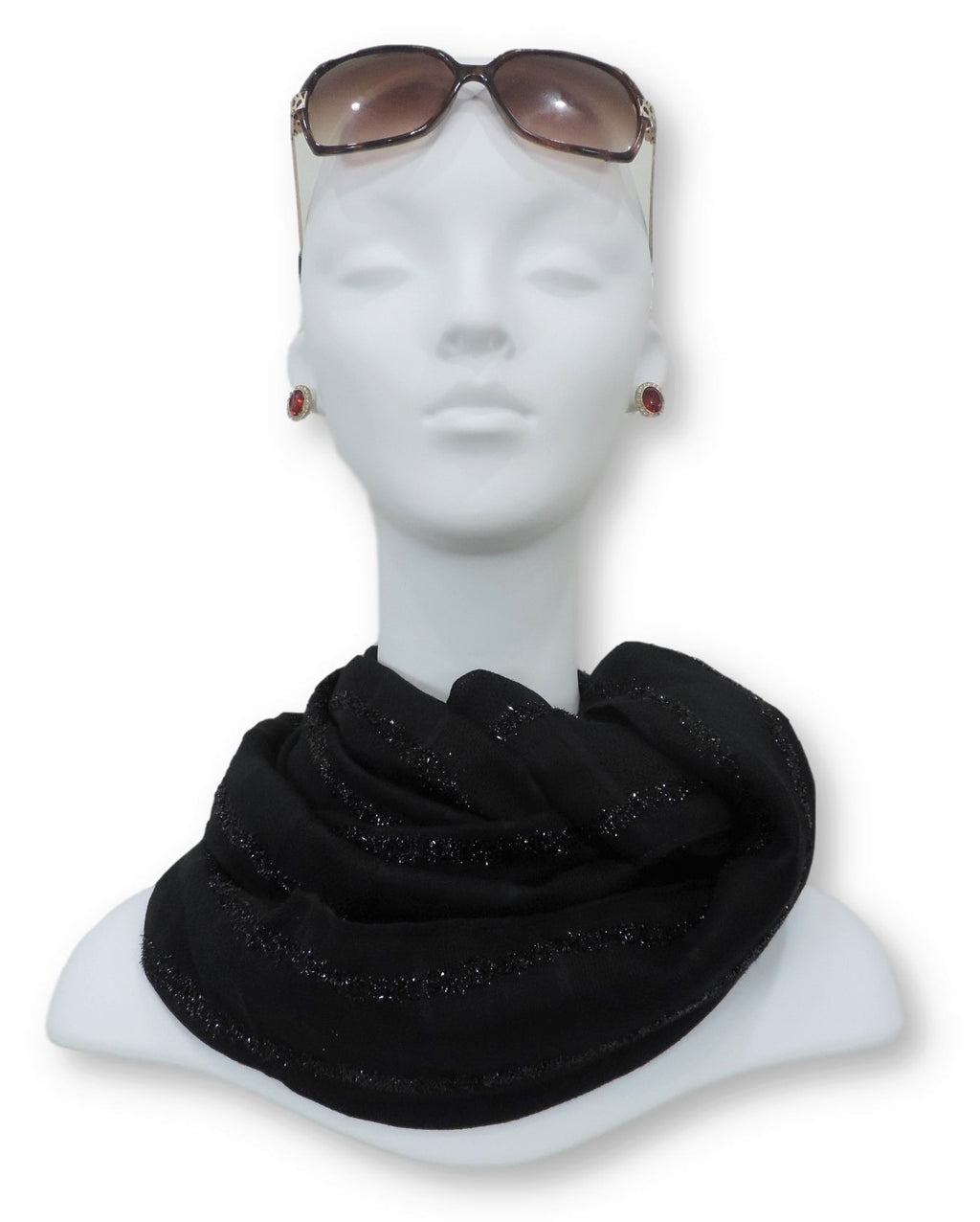 Black Sparkle Cotton Scarf - Global Trendz Fashion®
