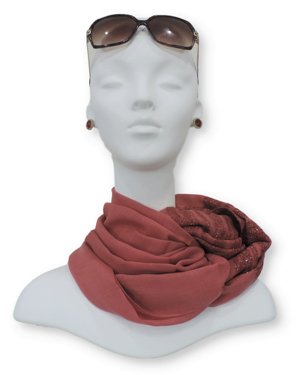 Blush Sparkle Cotton Scarf - Global Trendz Fashion®