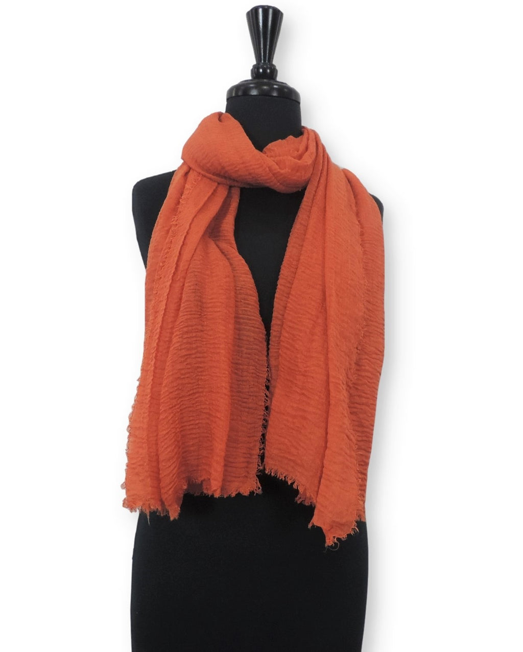 Red Orange Bubble Cotton Scarf - Global Trendz Fashion®