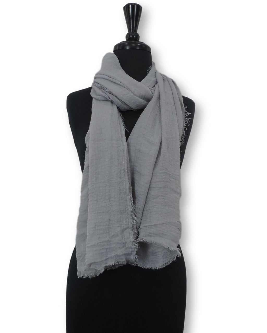 Grey Bubble Cotton Scarf - Global Trendz Fashion®