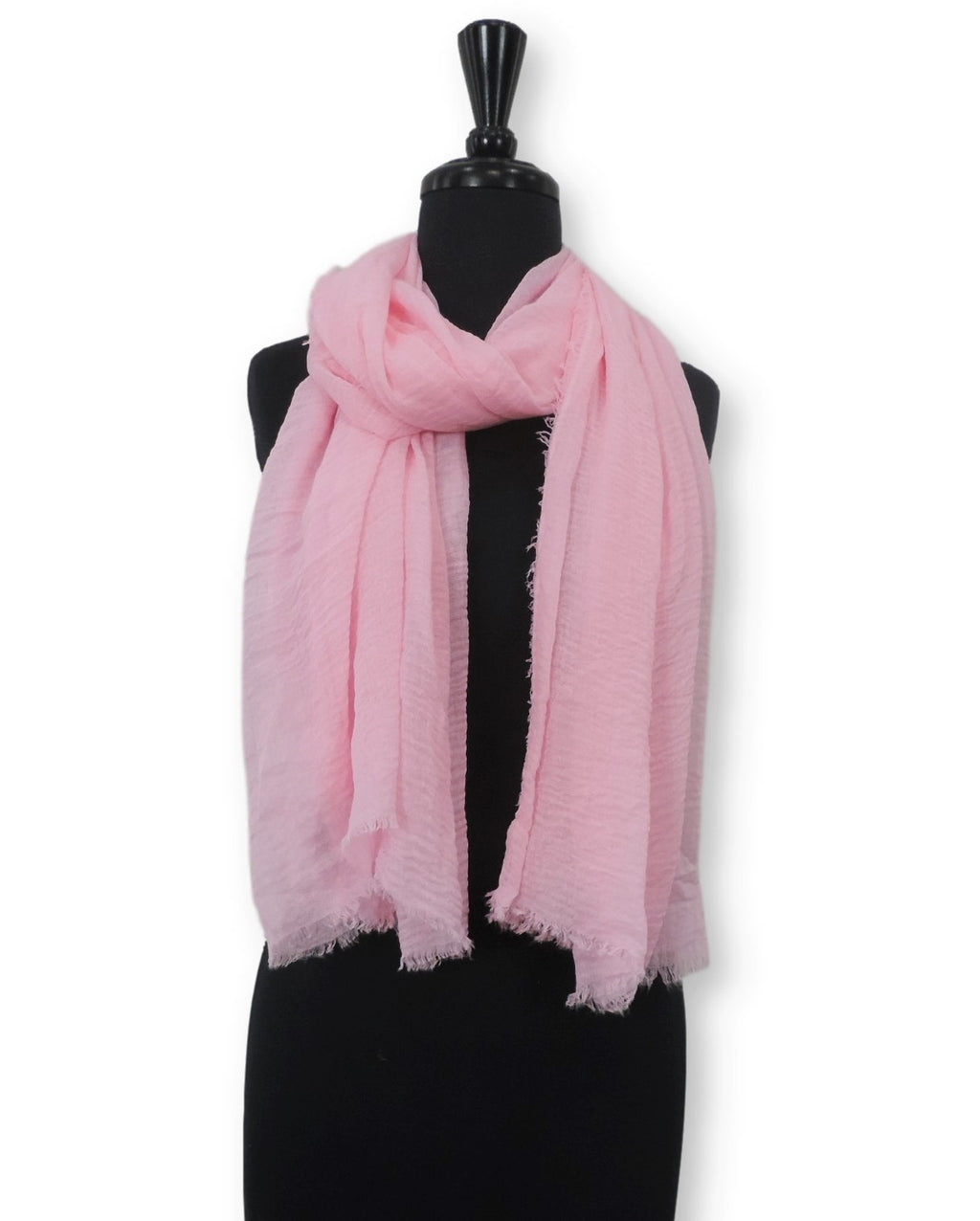 Baby Pink Bubble Cotton Scarf - Global Trendz Fashion®