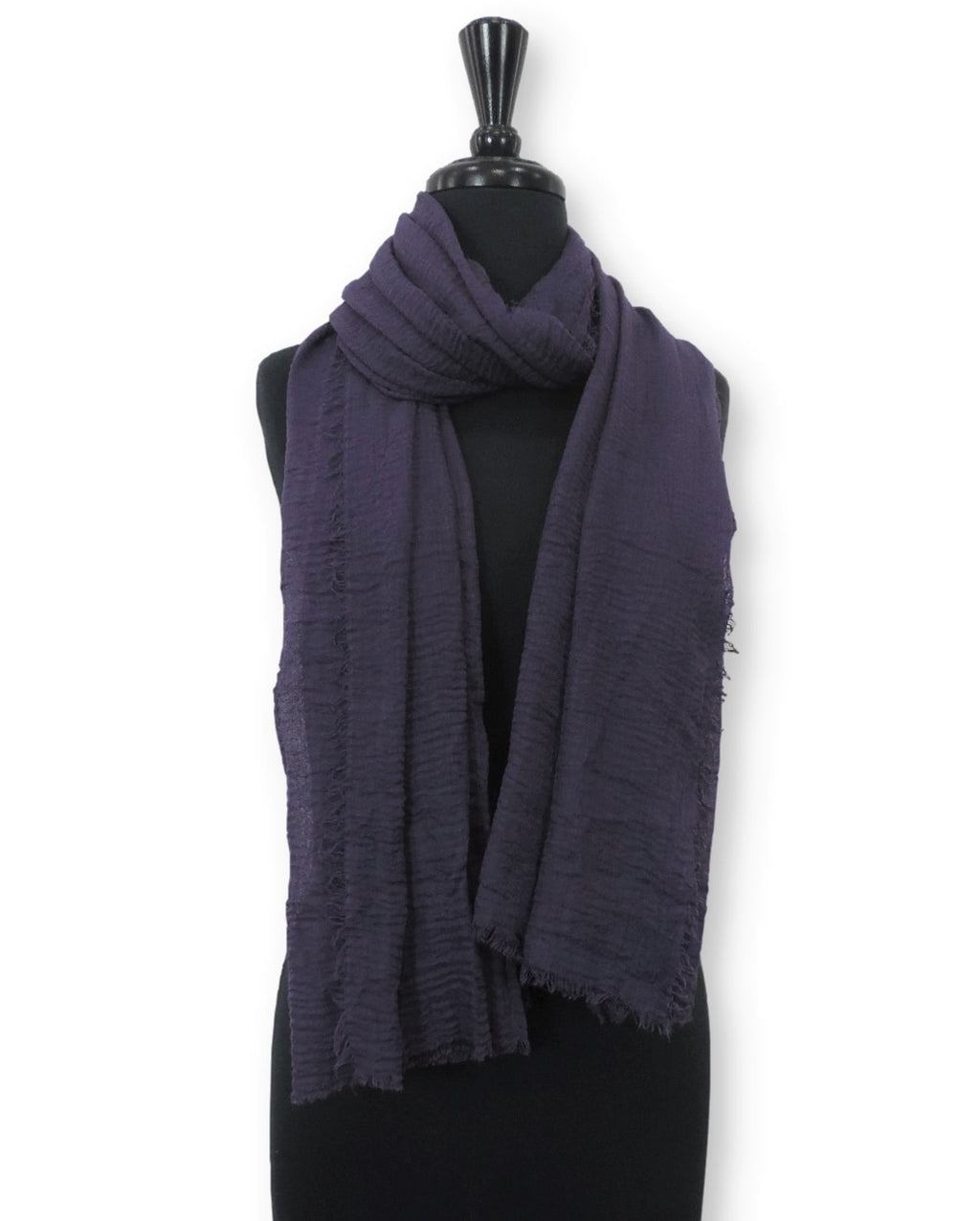 Dark Purple Bubble Cotton Scarf - Global Trendz Fashion®