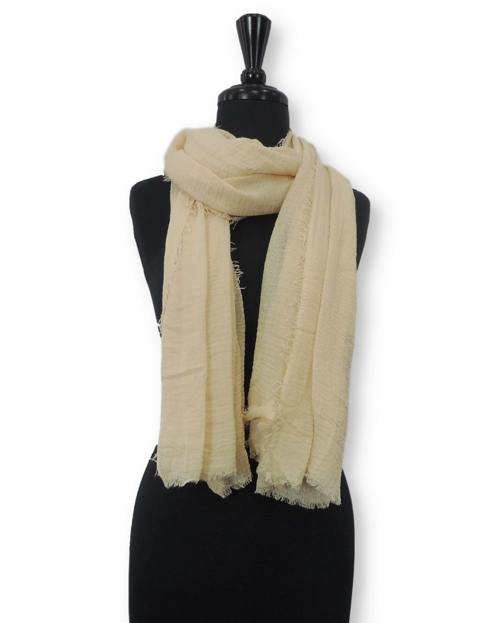 Yellow Beige Bubble Cotton Scarf - Global Trendz Fashion®