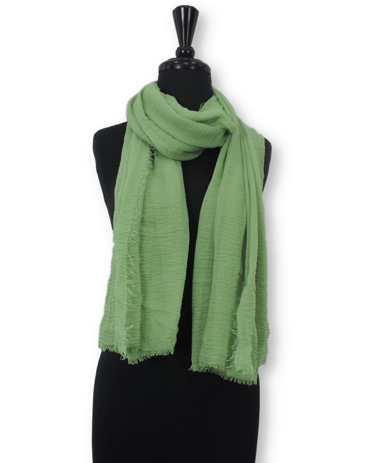 Mint Green Bubble Cotton Scarf - Global Trendz Fashion®