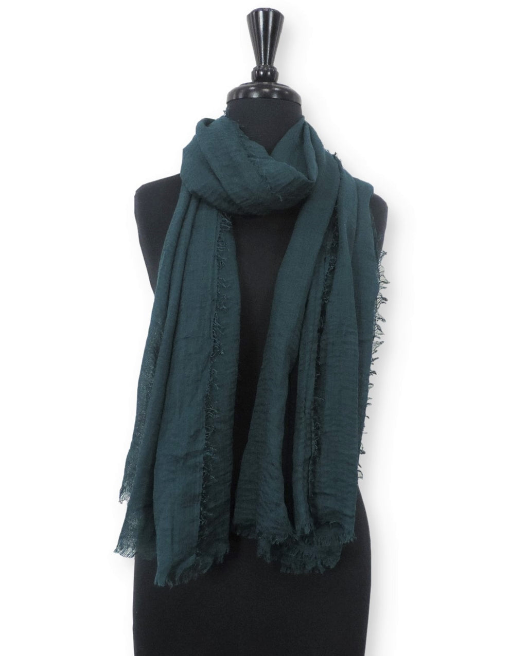 Peacock Bubble Cotton Scarf - Global Trendz Fashion®