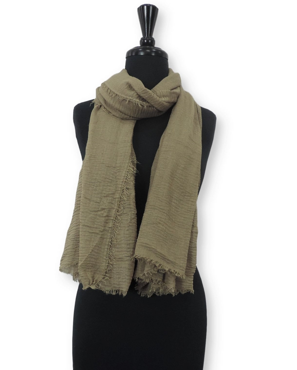 Sage Bubble Cotton Scarf - Global Trendz Fashion®