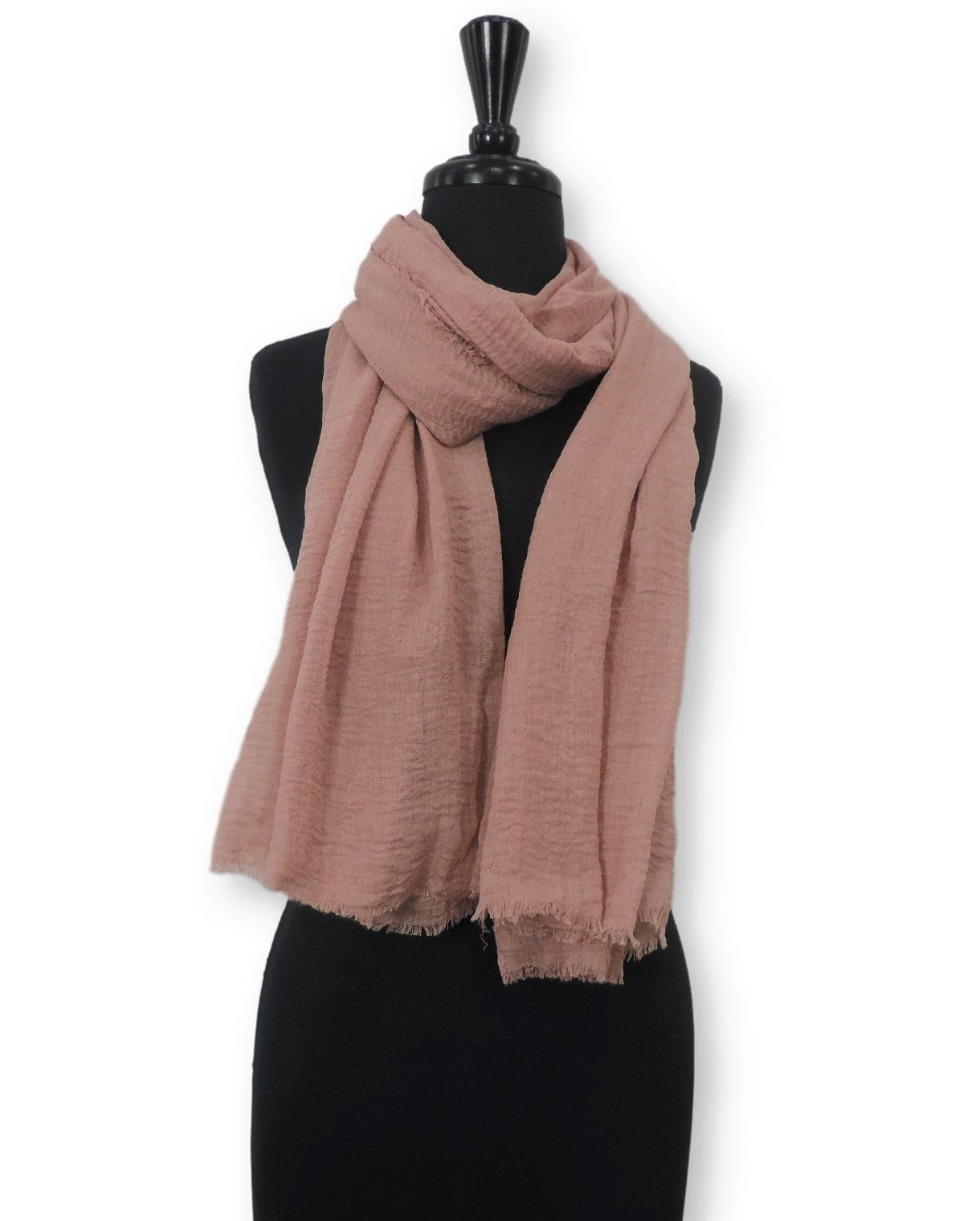 Peach Bubble Cotton Scarf - Global Trendz Fashion®