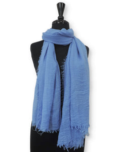Blue Bubble Cotton Scarf - Global Trendz Fashion®