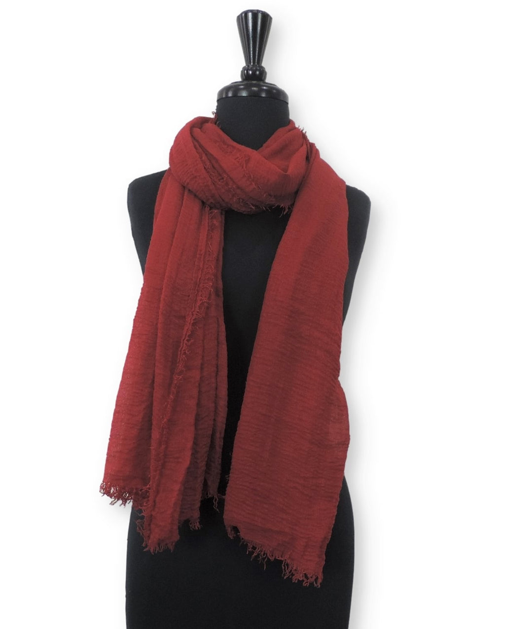 Maroon Bubble Cotton Scarf - Global Trendz Fashion®