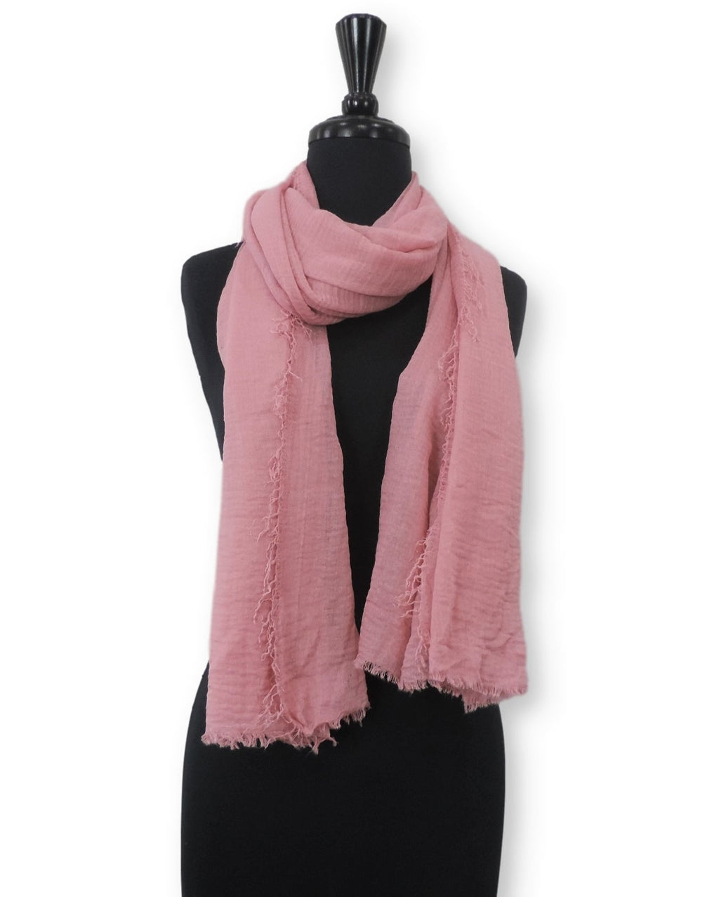 Dusty Rose Bubble Cotton Scarf - Global Trendz Fashion®