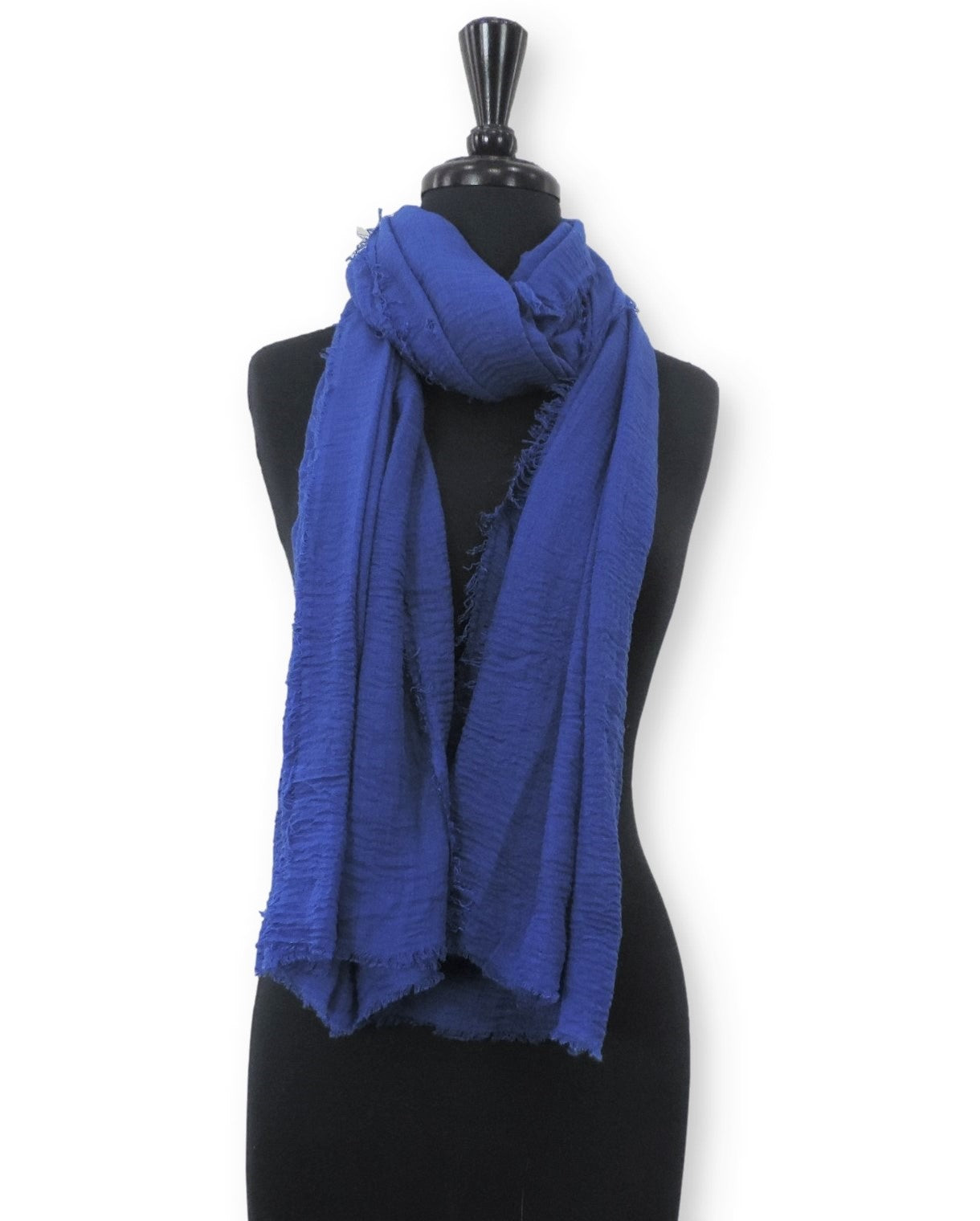 Royal Blue Bubble Cotton Scarf - Global Trendz Fashion®