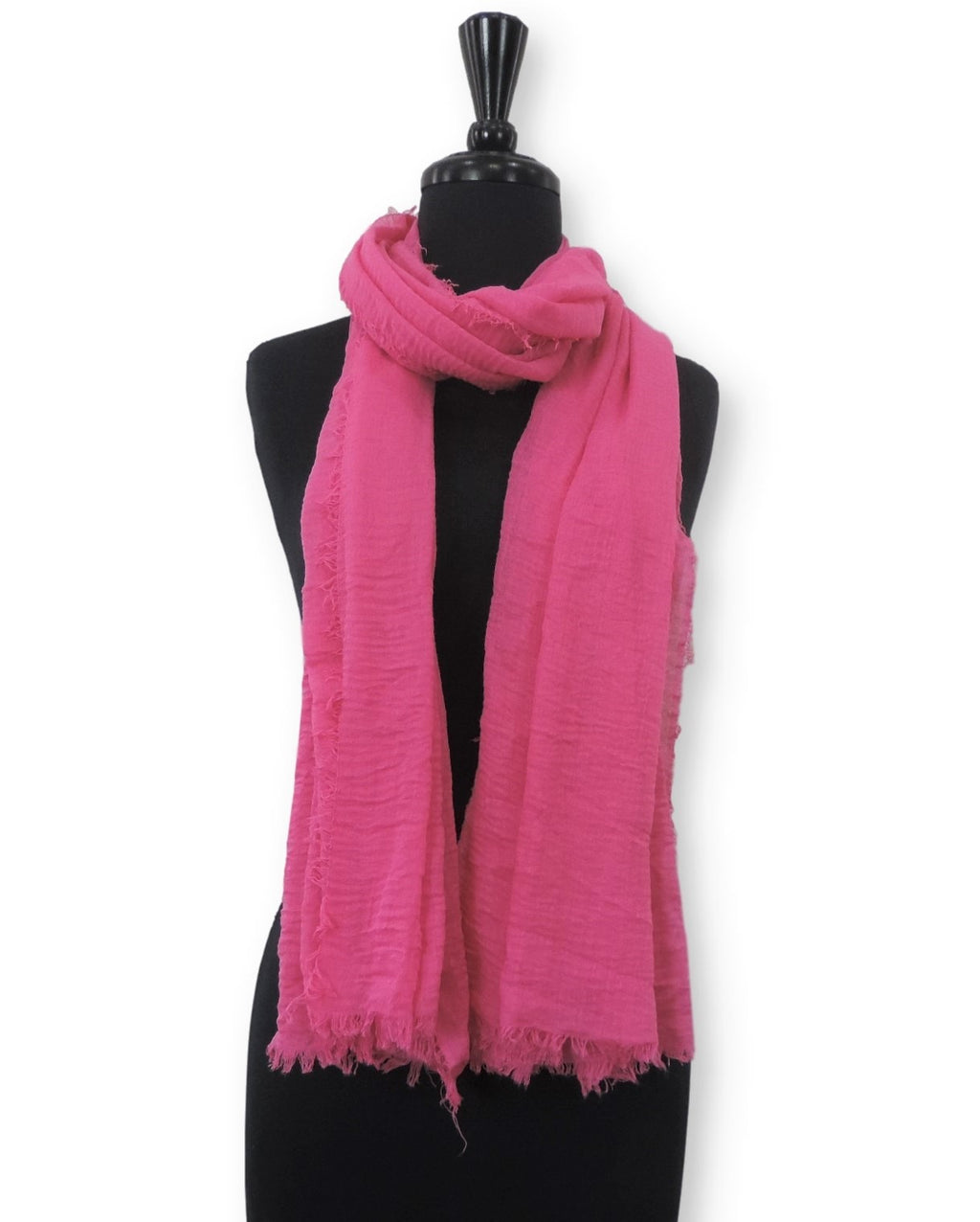 Hot Pink Bubble Cotton Scarf - Global Trendz Fashion®