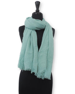 Pistachio Bubble Cotton Scarf - Global Trendz Fashion®