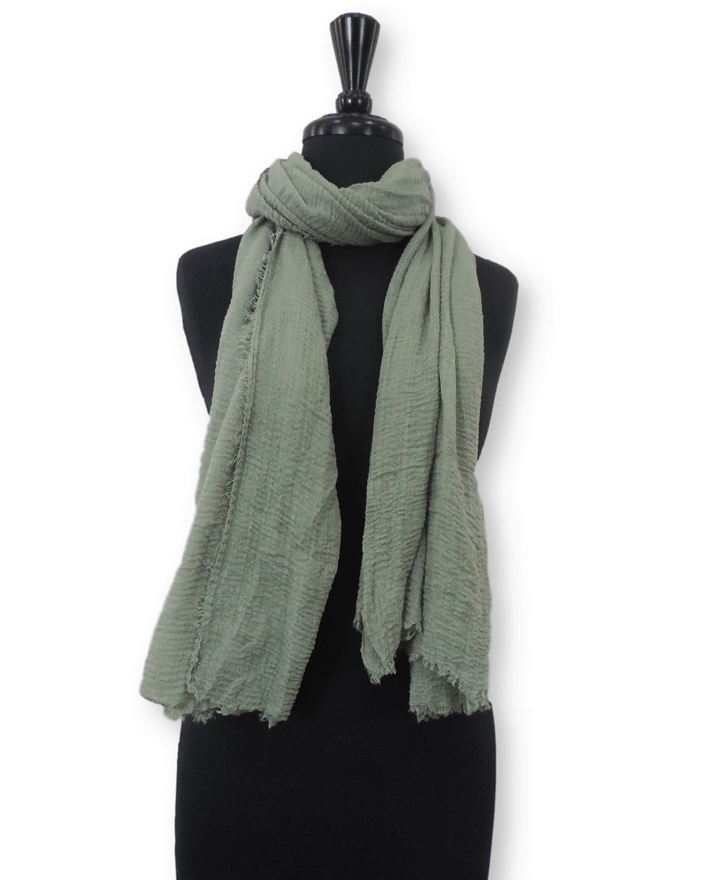 Olive Bubble Cotton Scarf - Global Trendz Fashion®